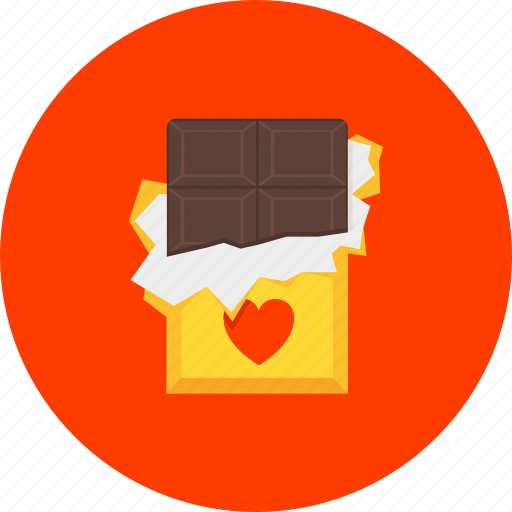 chocolate, dessert, heart, love, present, romance, sweets icon