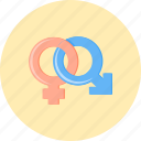 connection, female, gender, male, person, relationship, woman icon