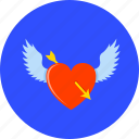 arrow, heart, love, romantic, valentine, valentine's, winged heart icon