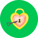 lock, acces heart, access, key, password, private, safe