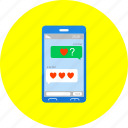 mobile, phone, chat, communication, love, lovechat, message