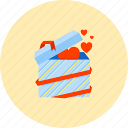 birthday, gift, love, party, present, romance, surprise icon