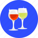 beverage, cup, drink, glass, romance, stemware, wine icon
