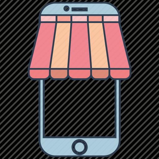 mobile, mobile marketing, seo, seo pack, seo services, store, web design icon