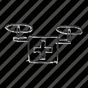 emergency drone, medical drone icon
