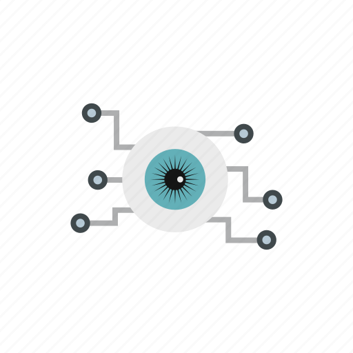 cyber, eye, eyes, scan, scanning, security, technology icon