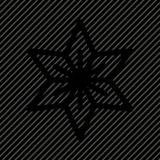 christmas, holiday, ornament, star, xmas icon