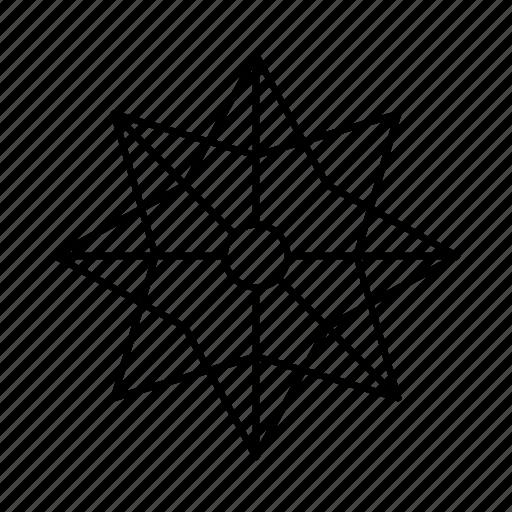 Ornament, star, decoration, christmas, celebration icon