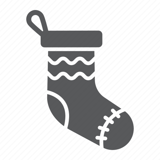 christmas, decor, festive, new, sock, stocking, year icon