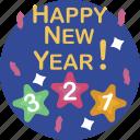 confetti, countdown, festive, midnight, new, party, year