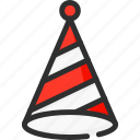 christmas, cone, hat, new, xmas, year icon