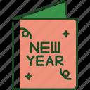 invitation, new year, party, card, celebration, greeting, holiday