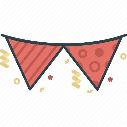 celebration, confetti, flag, gala, new year, party, partyevent icon