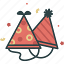 birthday, celebrate, hat, party icon