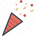 cone, confetti, party, popper icon