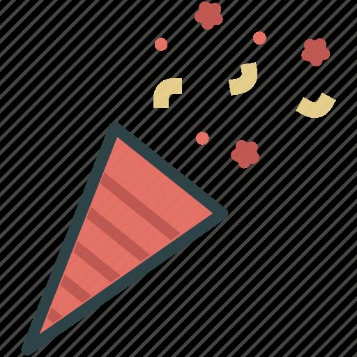 cone, confetti, party, popper icon