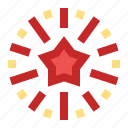 celebration, festival, fireworks, new year, party icon