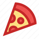 new year, party, pizza, slice