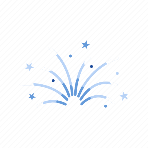 celebration, festival, fireworks, lights icon