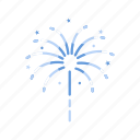 celebration, explosion, fireworks, lights icon