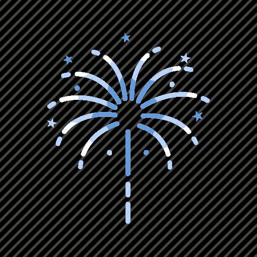 celebration, explosion, fireworks, lights icon