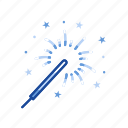 celebration, festival, fireworks, lights icon