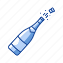 celebration, liquor, sparkling wine, wine battle icon