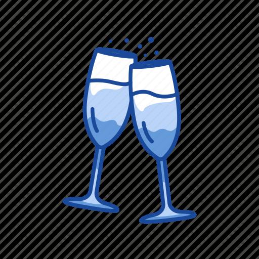 celebration, champagne, red wine, wine icon