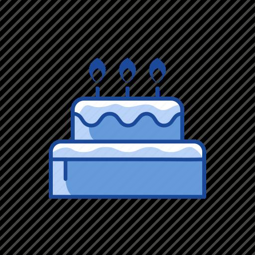 birthday, cake, celebration, dessert icon