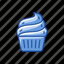 cake, cupcake, dessert, icing icon