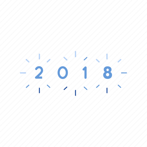 celebration, new year, party, twenty eighteen icon