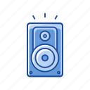 celebration, noise, sounds, speaker icon