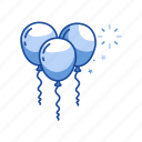 ballon, birthday, new year's eve, party icon