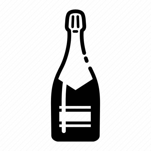 bottle, champagne icon