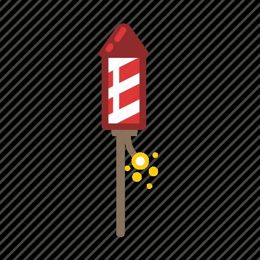 bottle, fireworks, rocket icon