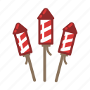 bottle, fireworks, rockets icon