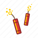 firecrackers, fireworks icon
