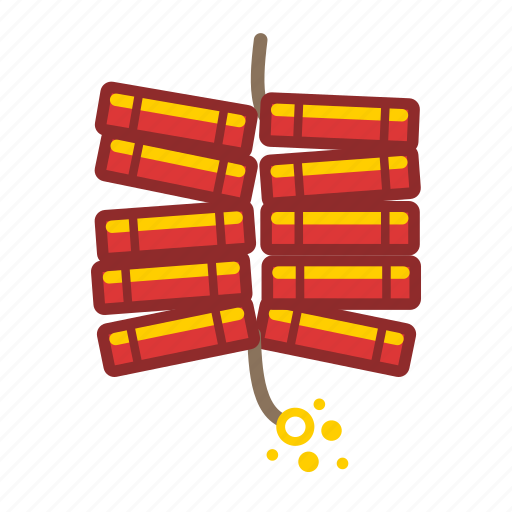 firecrackers, fireworks, string icon