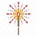 fireworks, sparkler icon
