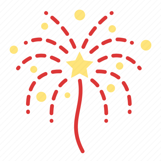 air, explosions, fireworks, stars icon