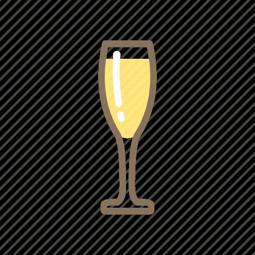 champagne, flute, glass icon