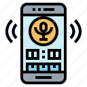 microphone, radio, record, sound icon