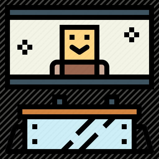 computer, device, screen, television icon