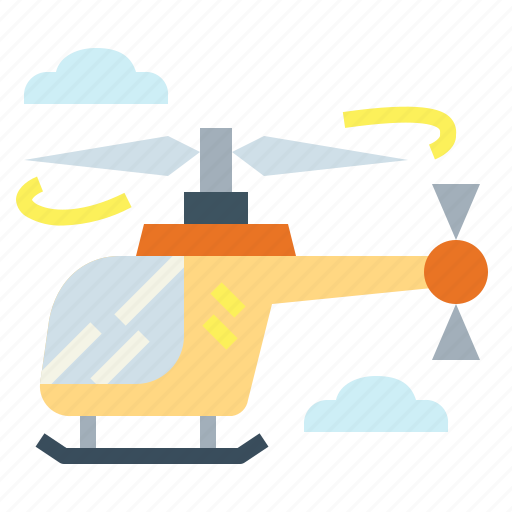 aircraft, fly, helicopter, transportation icon