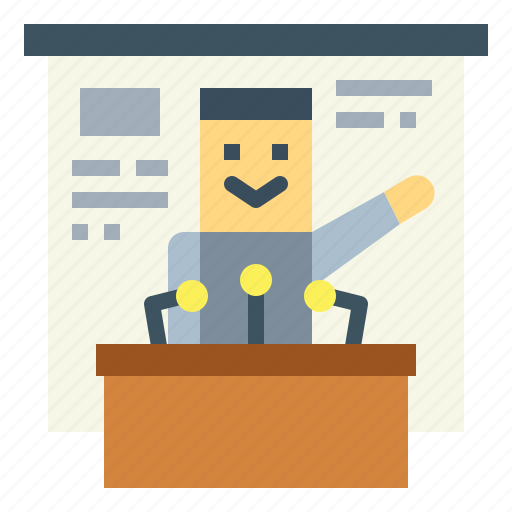 communications, conference, lecture, presentation icon