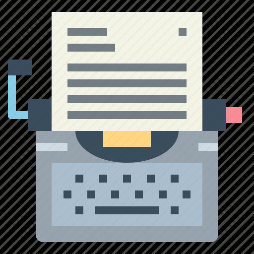 keyboard, paper, typewriter, writing icon
