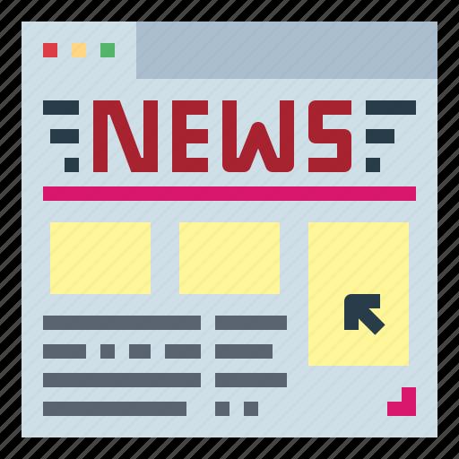 communications, internet, news, website icon