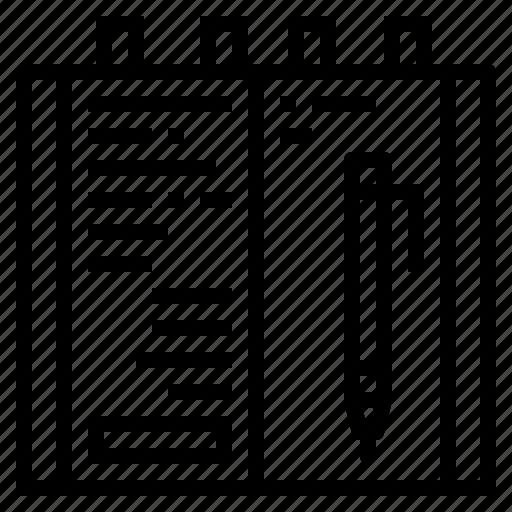 address, agenda, book, bookmark, notebook icon