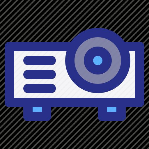 broadcast, interest, magazine, news, projector, reportage icon