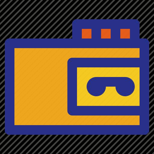 broadcast, interest, magazine, news, reportage, walkman icon